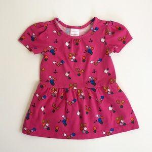 Hanna Andersson Pink Flower Dress 12-18 Months